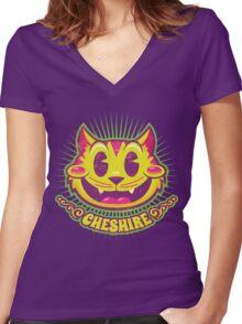 Cheshire Originals - Vintage Tutti Frutti Women's Fitted V-Neck T-Shirt