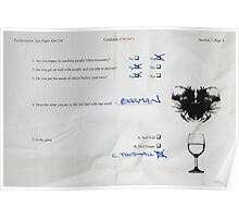 Funny Psychometric test paper Poster