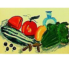 Salad makings , watercolor Photographic Print