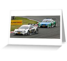 DTM Brands Hatch 2012 Greeting Card