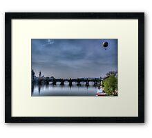 Prague Blue Landscape Framed Print