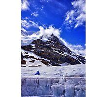 Ice Glacier in Canada Photographic Print
