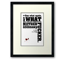 Pulp Fiction Quotes Framed Print