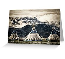 Three Little Tee Pee's Greeting Card