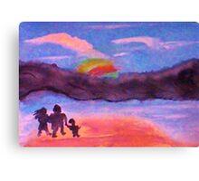 Follow that rainbow, watercolor Canvas Print