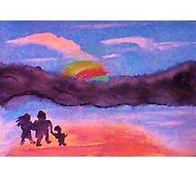 Follow that rainbow, watercolor Photographic Print