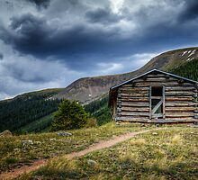 Papa Ghosts Cabin - Independence Ghost Town  by Toby Harriman