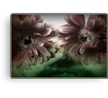 Oily Flowers are faded Canvas Print