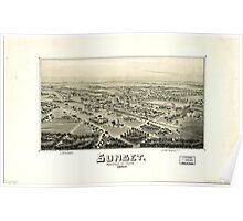 Panoramic Maps Sunset Montague Co Texas 1890 Poster