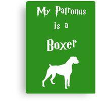 My Patronus is a Boxer Canvas Print