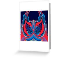 blue & red owl Greeting Card