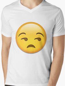 Unamused face emoji whatsapp Mens V-Neck T-Shirt