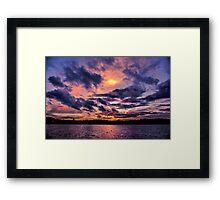 Sunset colors Framed Print