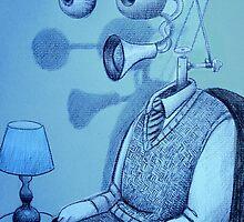 strange worlds from a strange mind - portrait of a man by Loui  Jover
