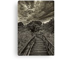 Mead Gardens Boardwalk HDR Canvas Print