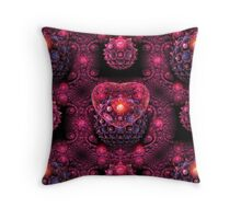 Hearts And Gems Throw Pillow