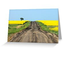 A Muddy Farm Road and A Lone Tree Greeting Card