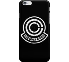 Capsule Corp. Black iPhone Case/Skin