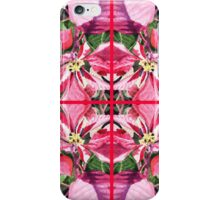 Pink Poinsettia Decor iPhone Case/Skin