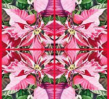 Pink Poinsettia Decor by Irina Sztukowski