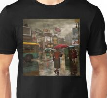 City - NY - Times Square on a rainy day 1943 Unisex T-Shirt