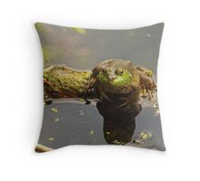 Frog February Throw Pillow