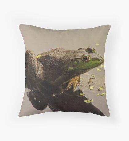 Frog June Throw Pillow