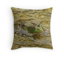 Frog October Throw Pillow