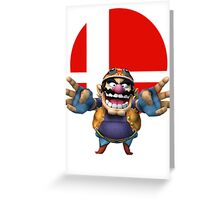 wario t-shirt smash bros brawl  Greeting Card
