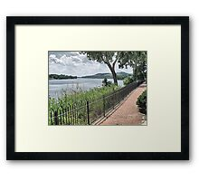 Ohio River Walkway Framed Print