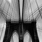 Brooklyn Bridge Wires - Abstract by Samantha Wong