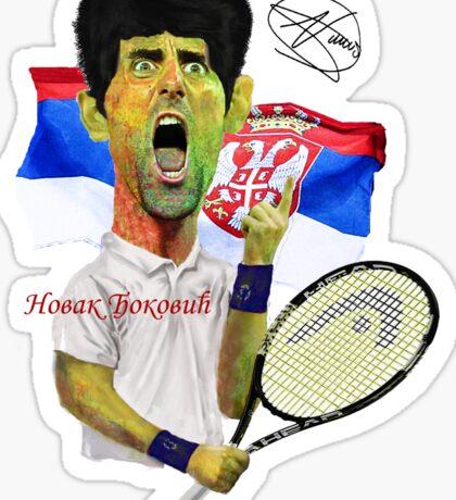 Djokovic number 1 Sticker