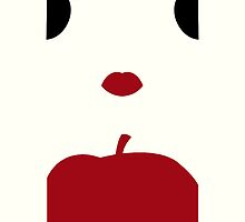 Snow White Minimalist iPhone Case by alexandramarieg