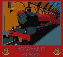 Hogwarts Express Vintage Rail Poster by Jarriet