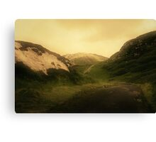 These mystic hills Canvas Print