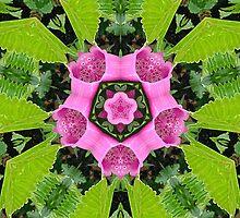 Foxglove & Fern Kaleidoscope by Alice Schuerman