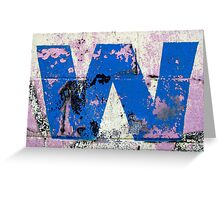 Blue W Greeting Card