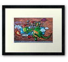 Christmas Dragon Framed Print