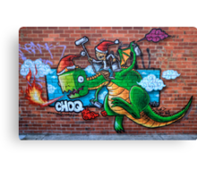 Christmas Dragon Canvas Print