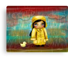 a walk in the rain Canvas Print