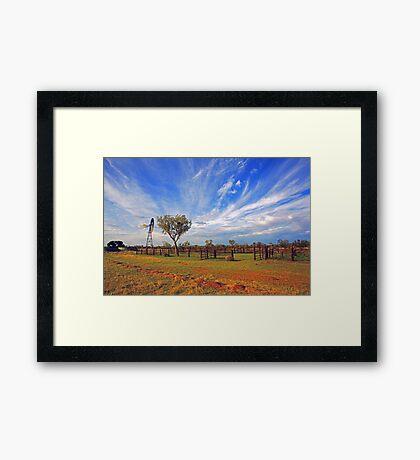 Cattle Yard Framed Print