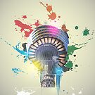 Sydney Tower, Sydney (Abstract) by Mark Hyland