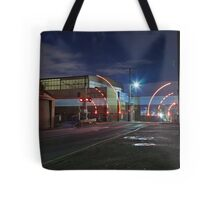 Train Passing (in the night) Tote bag