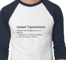 Instant Transmission Definition Men's Baseball ¾ T-Shirt