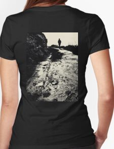 Lonely Walk Womens Fitted T-Shirt