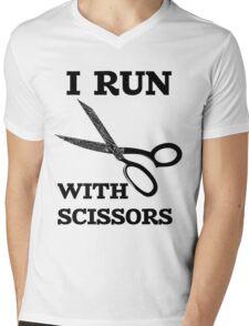 I Run With Scissors Mens V-Neck T-Shirt