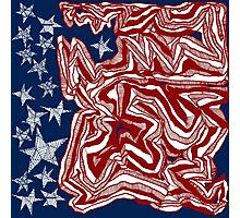 Abstract American Flag Photographic Print