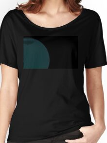 Wire GlobeGlobe with a wire grid on black background. Women's Relaxed Fit T-Shirt