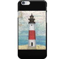 Sankaty Head Lighthouse MA Nautical Chart Peek iPhone Case/Skin