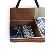 Take that old record off the shelf Tote Bag